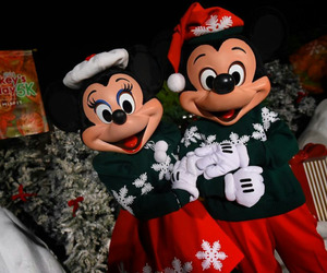 disney, christmas, and mickey mouse image