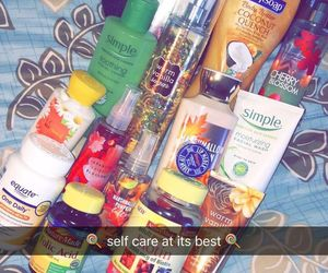 self care, 💓, and smell good image