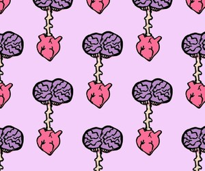 brain, heart, and pattern image