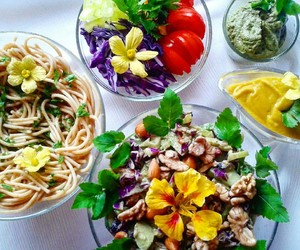 fitness, flowers, and food image