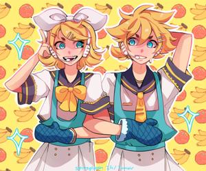 anime, banana, and blond image