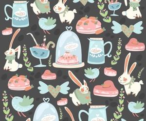 background, bunny, and cake image