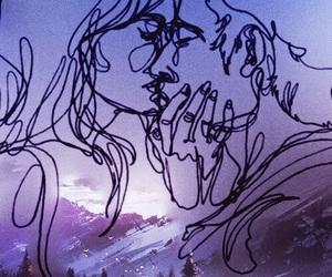 background, romance, and sunset image
