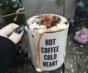 coffee, cold, and heart image