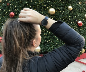 christmas, december, and hair image