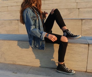 girl, converse, and fashion image