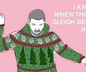 Drake, christmas, and hotline bling image