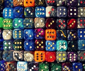 dice, colorful, and colours image