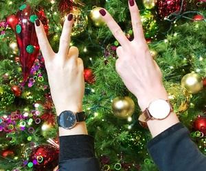 bffs, christmas, and christmas tree image