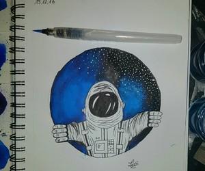 art, artsy, and astronaut image