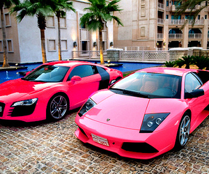 cars, pink cars, and luxury image