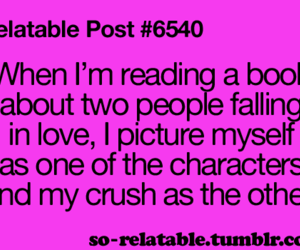 crush, love, and book image