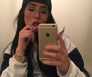 girl, iphone, and fashion image