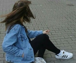 girl, adidas, and grunge image