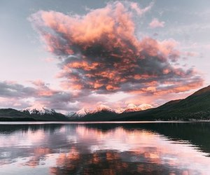 clouds, lake, and nature image