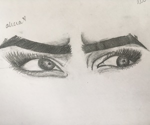 art, drawings, and eyebrows image