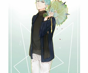 v, mystic messenger, and flowers image