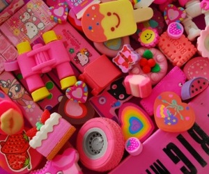 erasers and pink image