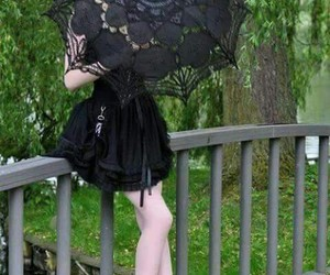 goth, black lace, and dark image