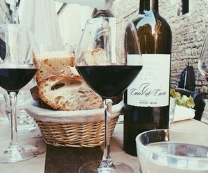 bread, wine, and fancy image