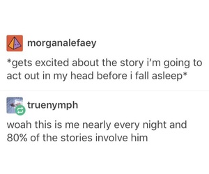 funny, story, and thinking image