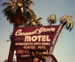 motel, vintage, and retro image