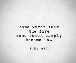 quotes, woman, and fire image
