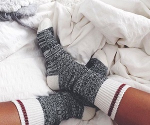 socks, cozy, and winter image
