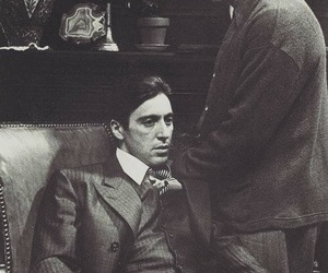 al pacino, marlon brando, and The Godfather image