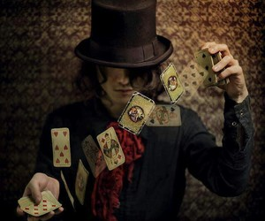 cards, magic, and magician image