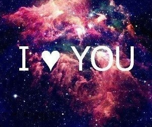 love, galaxy, and I Love You image
