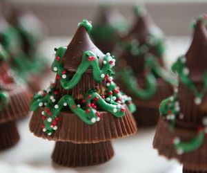 christmas, chocolate, and food image
