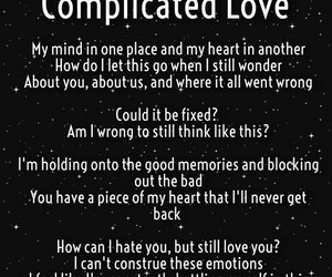 complicated love image