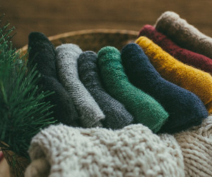 cotton, socks, and wool image