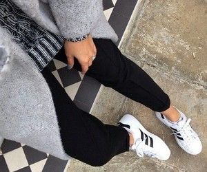 adidas, chaussures, and girl image