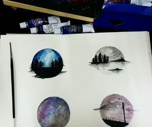 color, night, and galaxy image