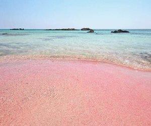 beach, pink, and grunge image