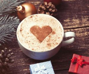 cafe, heart, and christmas image
