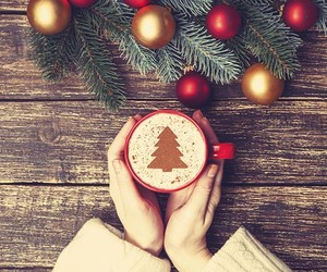cafe, christmas, and red image