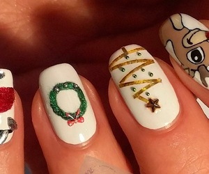 nails, christmas, and dots image
