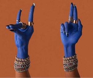 blue, hands, and gold image