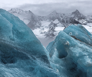 ice, blue, and cool image