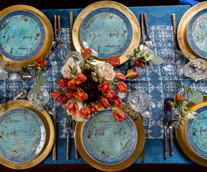 christmas, dinnerware, and table image