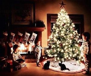 christmas, light, and child image