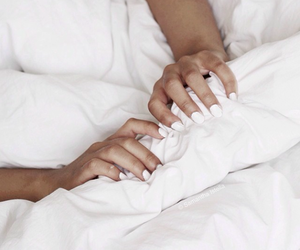 nails, white, and bed image