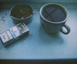 cigarettes, coffee, and fuck image