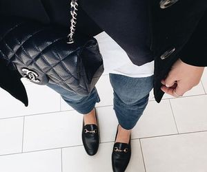 chanel, fashion, and loafer image