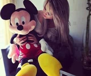 girl, mickey mouse, and disney image