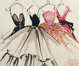 dress, fashion, and art image