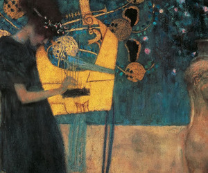 art, Gustav Klimt, and music image